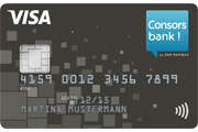 Consorsbank Haushaltskonto Visa Card