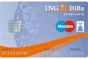 ING DiBa Haushaltskonto Maestro Girocard